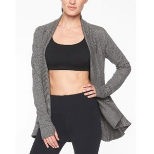 Athlete Pranayama Charcoal Heather Wrap Cardigan